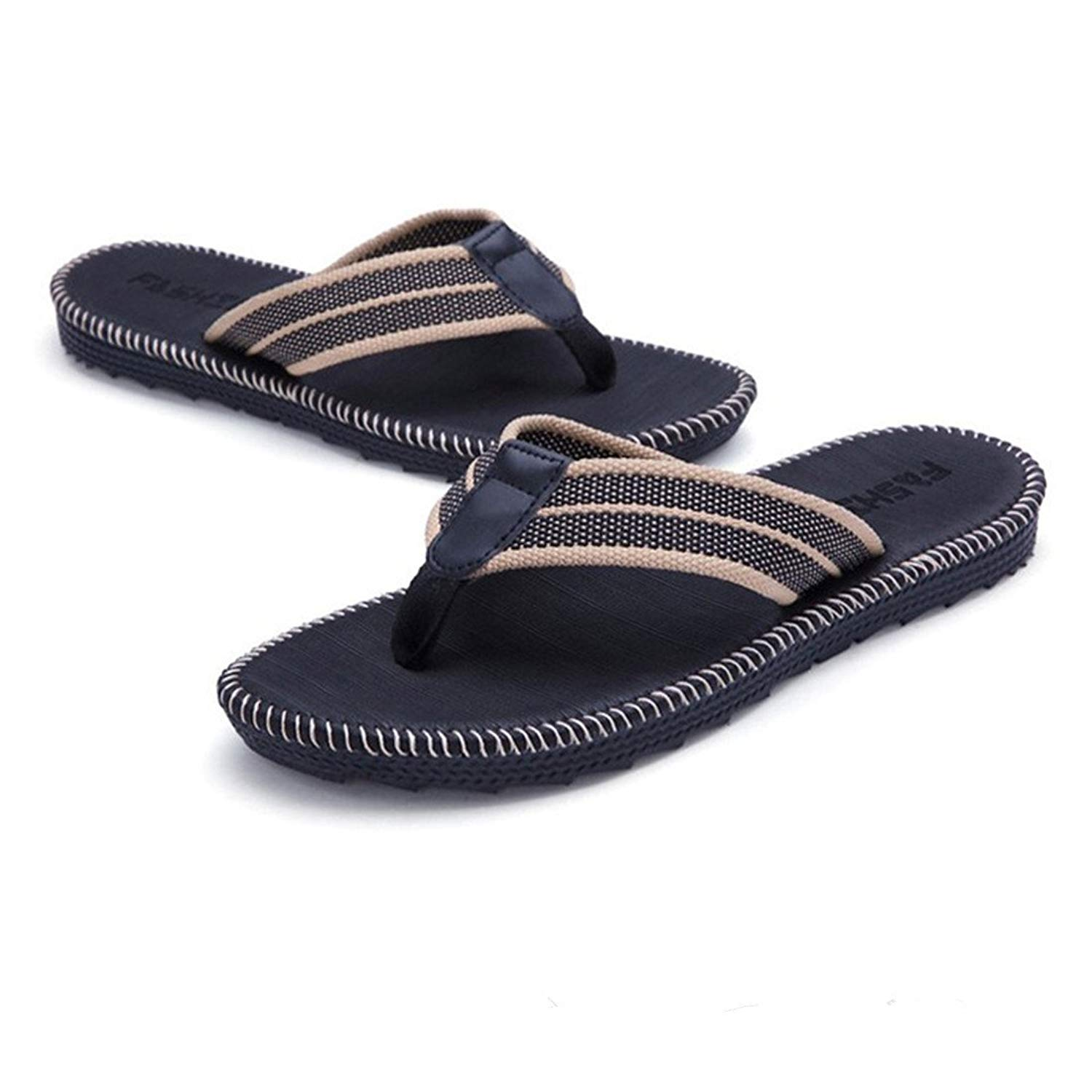 f203e828beddde Get Quotations · New Men s Flip Flops Beach Sandals Lightweight EVA Sole  Comfort Thongs