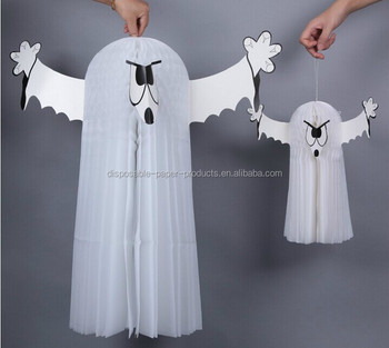 Yiwu Antik Kertas Seni Sarang Lebah Halloween 3d Gantungan Ghost