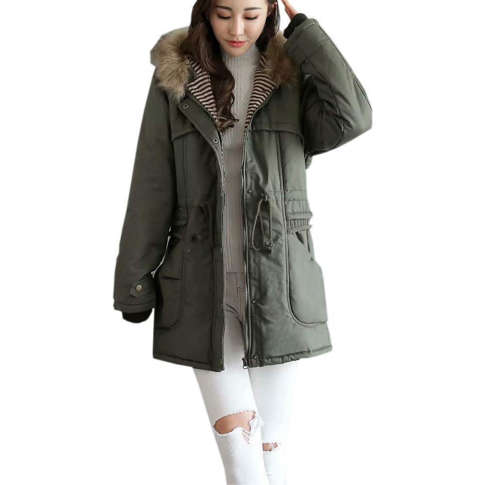 Amiley Parkas Women Winter,Women's Long Plush Puffer Parka Coat and Zip-Off Hooded Down Jacket Windbreaker