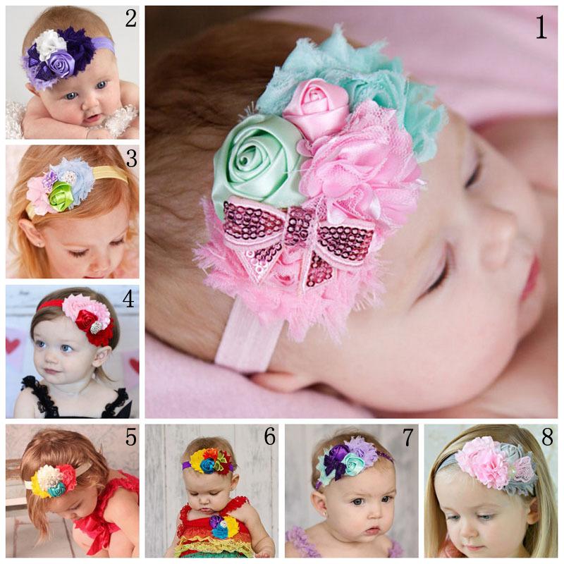 0-4 Years Elastic Head Ornament Bow Rhinestone Flower Mesh Baby Headbands  For Baby Photography Props 3pcs lot Free Shipping ~ baby headband ~  Bajby.com - is ... 12bcba34537d