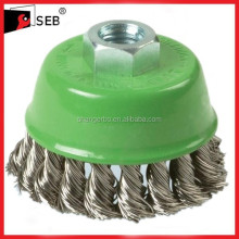 5'' germany Cup style Twisted wire brush