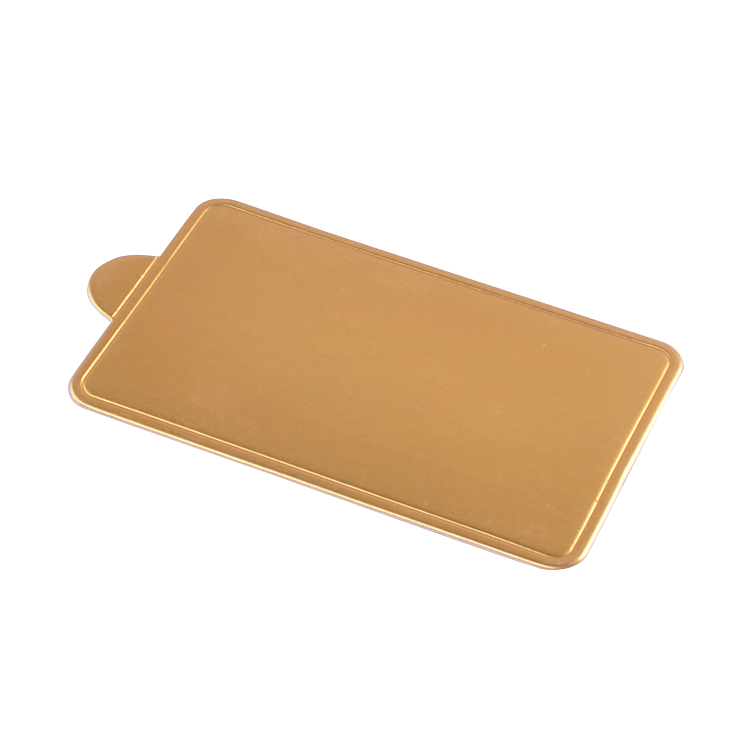 JK0011 Golden Small Rectangle Paper Cake Cardboard Base Mousse Mat Pad