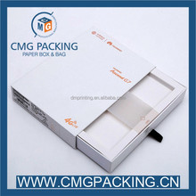 Drawer-style white paper box for towel gift packing