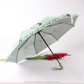 3871115d6b763 korean cute cat 3 folding silver coating fully automatic uv care sun  protection umbrella