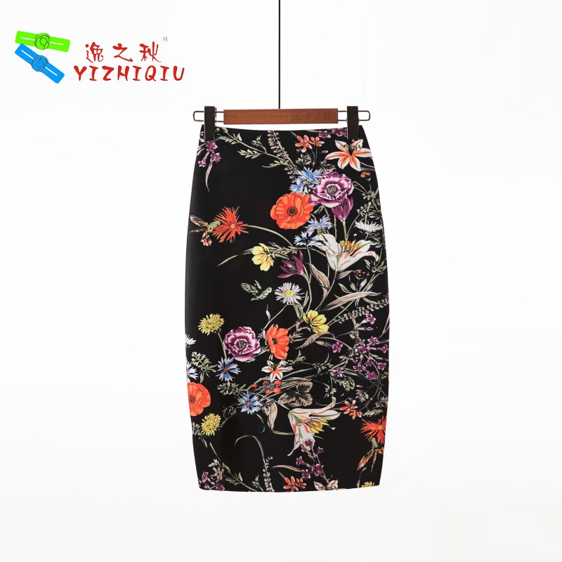 YIZHIQIU Fashion Odm Flower Printed One Step Skirt
