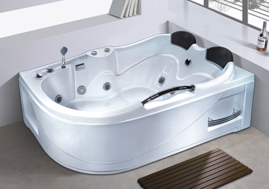 Ad-1737 Foshan Sanitary Ware Bathtub Heater Whirlpool 2 Person Skirt ...