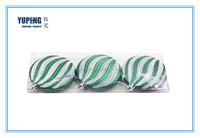 Hand Print Plastic Flat Decorative Christmas Ball/Ornaments