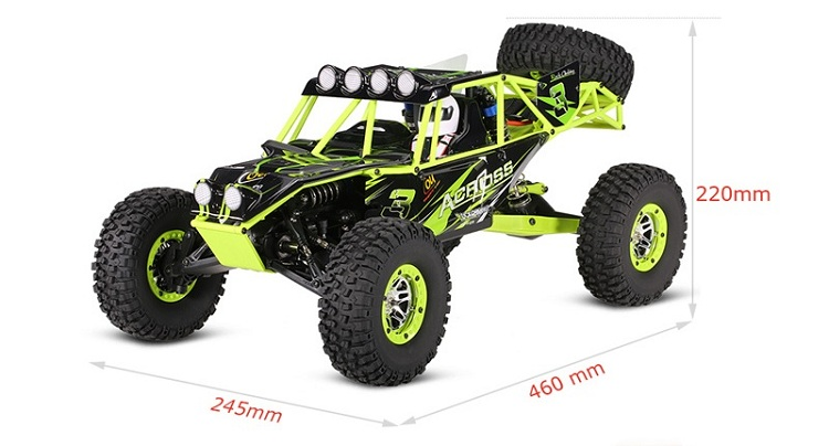 Original WLtoys WILD TRUCK 10428 1/10 2.4G 4WD Electric Brushed Crawler RTR RC Climbing Car