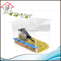 Wholesale large Clear Window Wild Bird Feeder With Strong Suction Cups
