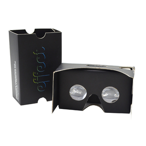 Customized google vr cardboard with headstrap vr 3d glasses with private label full color logo printing vr cardboard