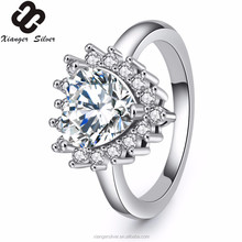 2017 China fashionable design 925 silver cz rings jewelry