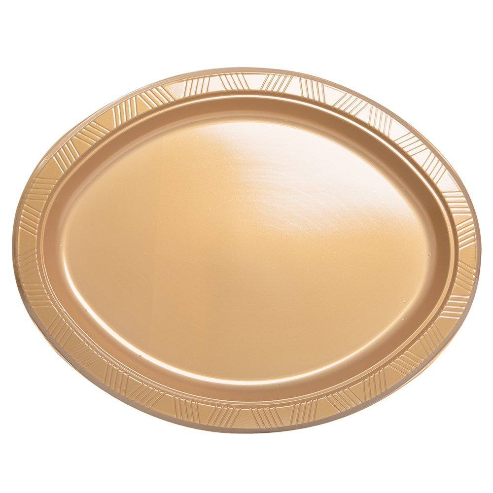 Unique Industries 8 Count Oval Plastic Plates Gold  sc 1 st  Alibaba & Buy Unique Industries 8 Count Oval Plastic Plates Gold in Cheap ...