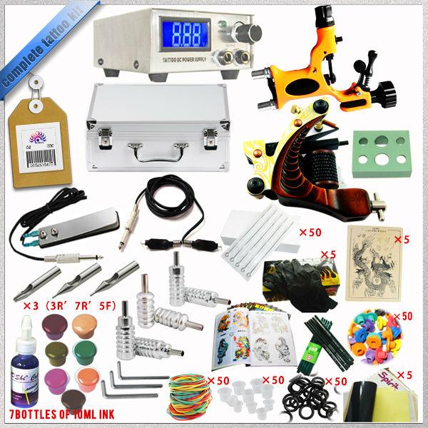 Complete Tattoo Kit 2 Dragonfly Rotary Tattoo Machine Kit Top