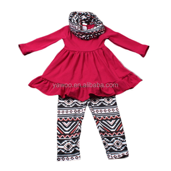 Factory price bulk wholesale kids all kinds of boutique clothing 3 pcs outfits from yiwu yawoo garments factory.
