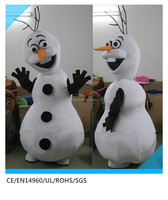 snowman olaf mascot costume for adult/olaf snowman costume