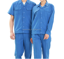 Factory clothing in construction industry protective suits with short-sleeved cotton sets