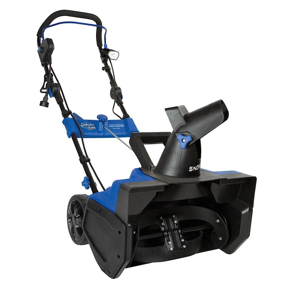 "Electric Snow Blower From Snow Joe Featuring 21"" Girth, 15 AMP Electric Power Source- Gets The Big Jobs Done With Quiet Eco-Friendly Cordless Elecgtric Power- No Gas-, Oil or Tune-Ups, Low Upkeep"