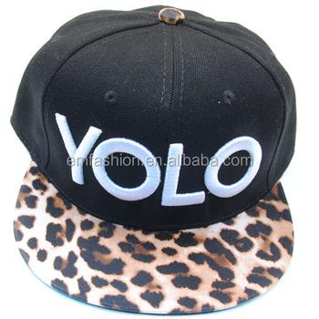 c5d3cc885e8be Fashion New Stylish Men Women Customized YOLO Letters 3D Embroidery  Customized Hip Hop Flat Brim