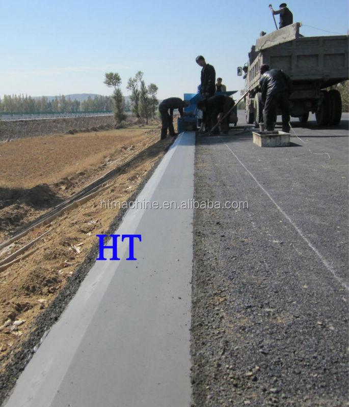 concrete curb and gutter machine