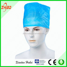 Health and Medical Disposable Blue Doctor Nurse Head Cap For Hospital