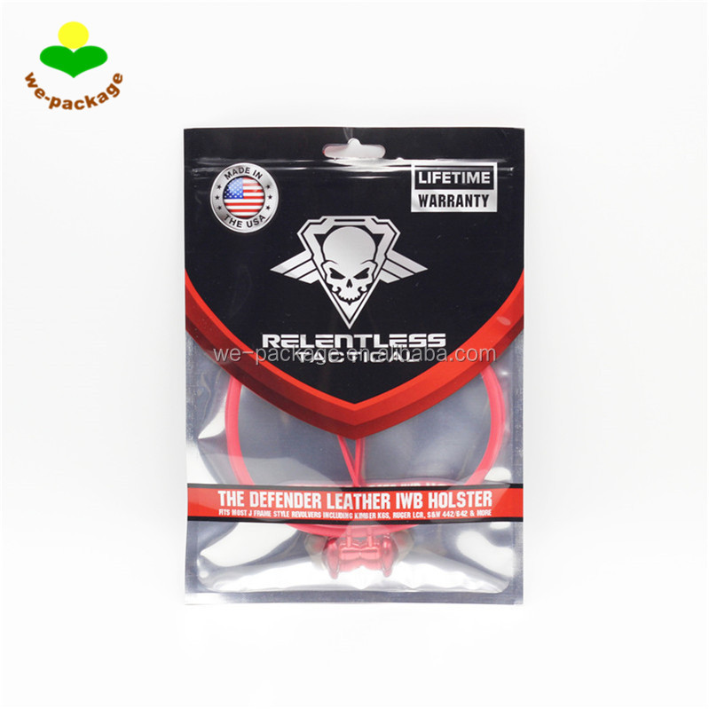 plastic ziplock three side seal bag with own logo