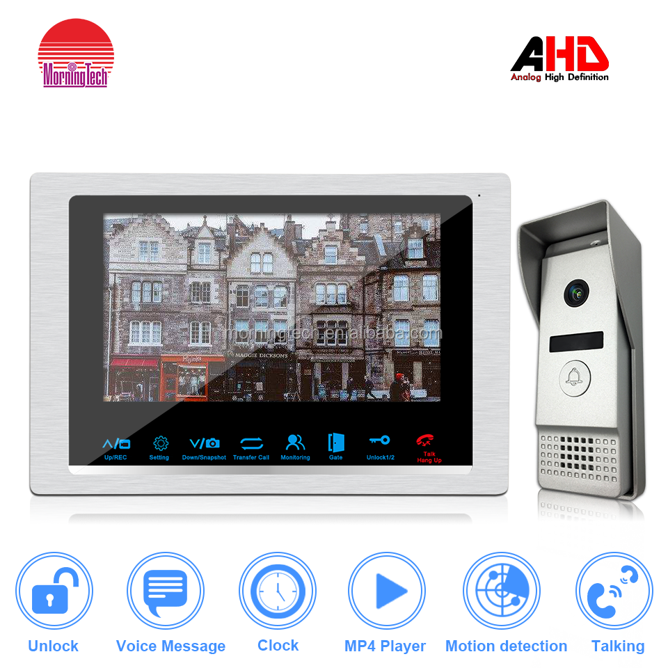 villa video intercom CE FCC ROHS Certification 100-240V power 7 inch video door phone system