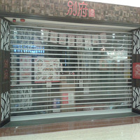 High quality transparent polycarbonate rolling shutter shop front door