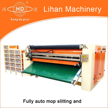 Ultrasonic mop slitting machine