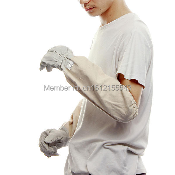 Новый пара пчеловодство козьей мыс перчатки с длинным рукавом защиты XXL бесплатная доставка