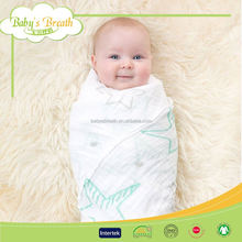 MS670 wholesale breathable eco-friendly swaddle muslin blanket factory