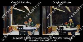 New arrival high quality painting on canvas of Edward Hopper