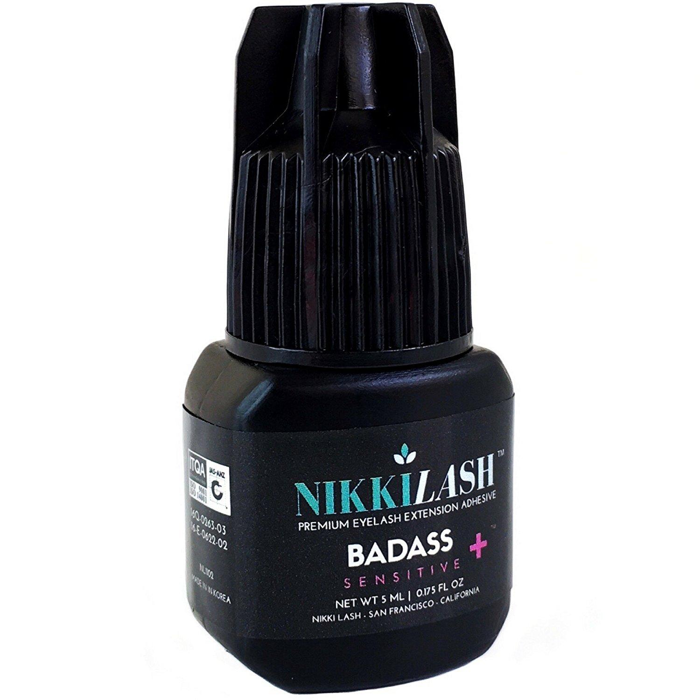 Nikkilash Bad Sensitive Eyelash Extension Glue Latex Free For Extreme Allergy Clients