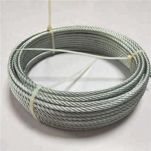 6x7+FC Fiber Core 10MM Din 3055 Galvanized Steel wire rope