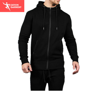 black sleeveless plain wholesale hoodies men bulk hoodies