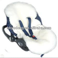 Sheepskin Car Seat Stroller Comforter for kids ,baby