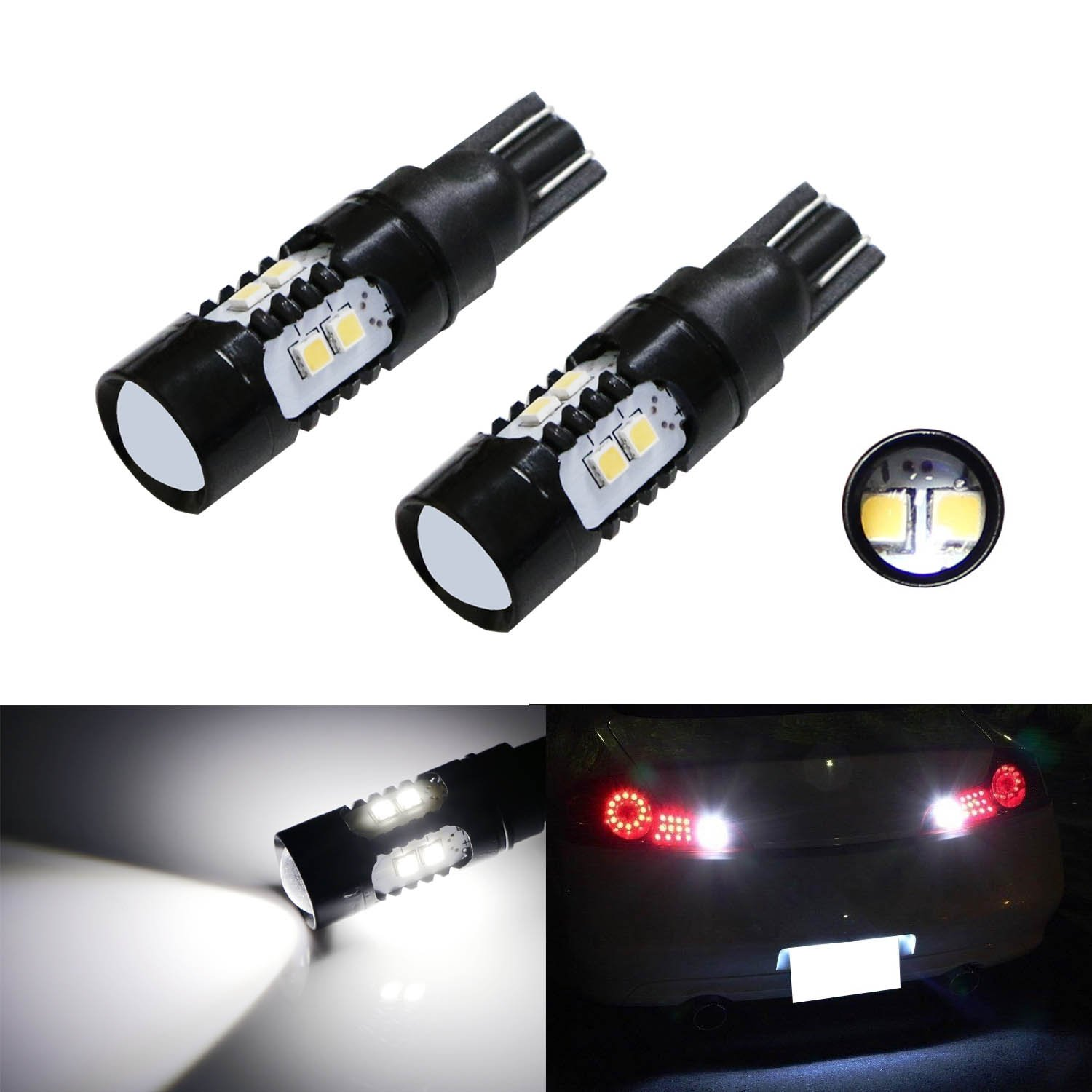 reverse license to frame recon led plate zoom backup lights with lighting hover aluminum black