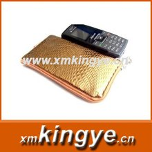 Leather Face Cloth Art Mobile Phone Pocket