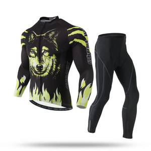 Cycling suit long suit new spring and autumn long sleeve suit male bicycle wild animal