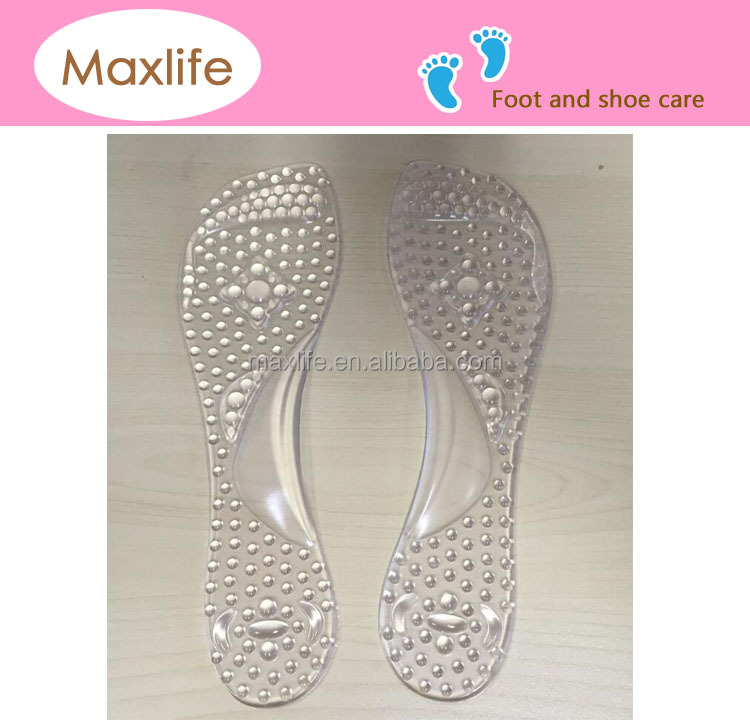 MXW28 foot massage pu adhesive 3/4 gel insole