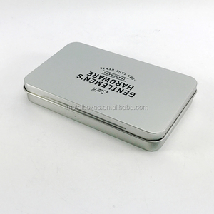 Factory Direct Supply Rectangular Thin Metal Tin Box For Cigar Packing
