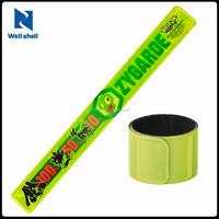 CE EN 71 custom promotional gifts blank cheap slap reflective custom wrist band