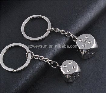 Novelty Metal Keyrings Gifts New Zinc Alloy 3d Dice Keychains - Buy ... f56a5acf5aac
