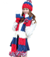 stylish hat scarf gloves set with pompom for men and women
