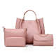 2018 Hot sale pu leather ladies handbags 4 pieces set women bag for work made in china