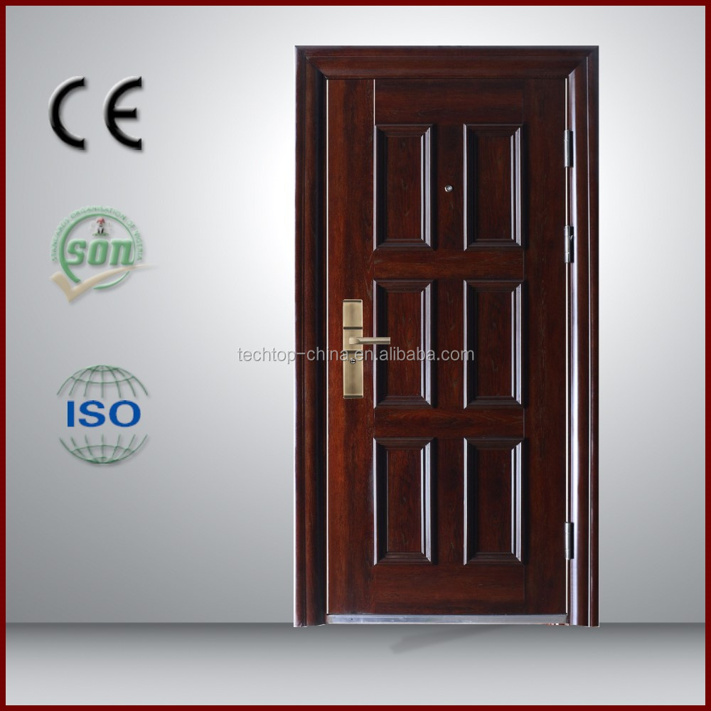2016 alibaba new style israel steel door interior modern house buillding door