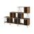 Luxury european industrial metal frame wrought iron small bookshelf wood cube bookcase office credenza