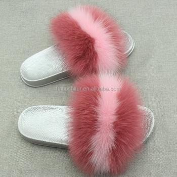 fashion girls beach slipper real fur slippers for sale buy fur