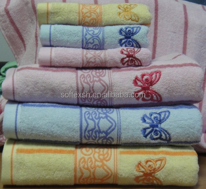Promotional Jacquard 100% Cotton Yarn Dyed Towel