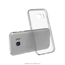 For Galaxy S7 Case Crystal Clear Slim Fit for Samsung Galaxy S7 Anti-Scratch Clear PC Back Panel + TPU Bumper Case for S7