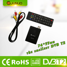 2017 JUNUO made in china high quality h.264 PVR MPEG4 FTA HD dvb t2 receiver